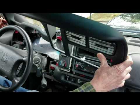 2000 Durango Dash Disassemble
