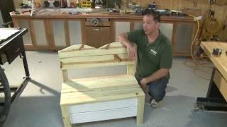 Southern Pine Garden Storage Bench