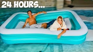 Living In My Friends Pool For 24 Hours!