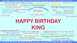 King   Languages Idiomas - Happy Birthday