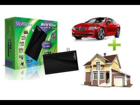 Для дома и авто! World Vision T129 12V - Тюнер (ресивер) Т2 Видео обзор (распаковка)