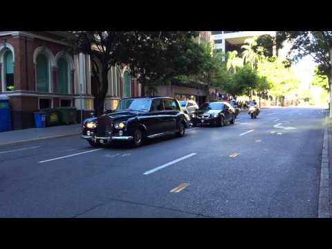 Motorcade of Governor of Queensland in Brisbane