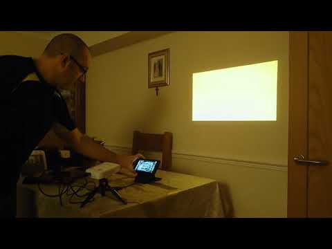 Wow! Nintendo SWITCH Projector Set up!