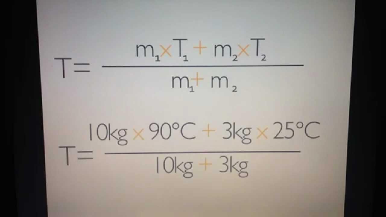 Mischtemperatur Berechnen : mischtemperatur von stoffen berechnen w rmelehre youtube ~ Themetempest.com Abrechnung