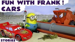 Disney Cars Toys Fun with Frank and Minions | Funny stories with Hot Wheels and Thomas & Friends