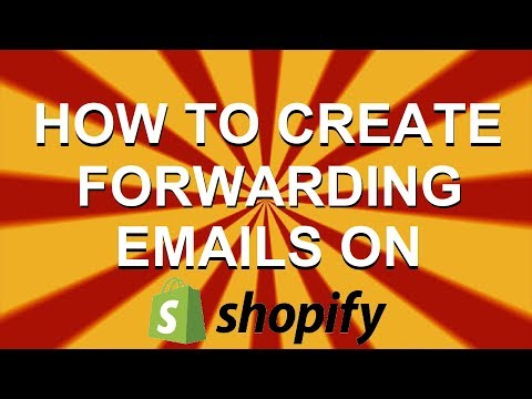 HOW TO CREATE FORWARDING EMAILS ON SHOPIFY | Drop Shipping | Zach Hall