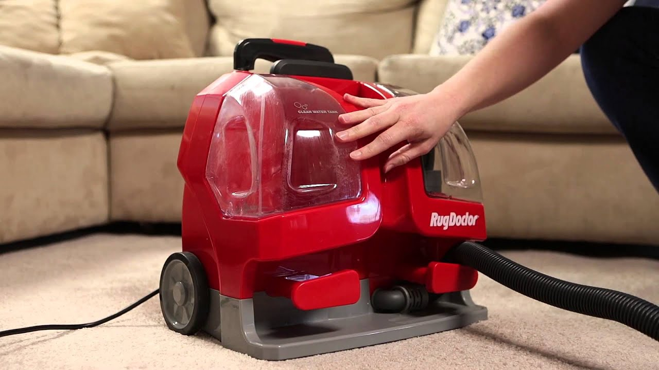 Rug Doctor Portable Spot Cleaner Setting Up And Cleaning   YouTube