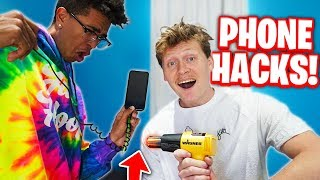 TRYING iPHONE LIFE HACKS WITH KRISTOPHER LONDON! 📱
