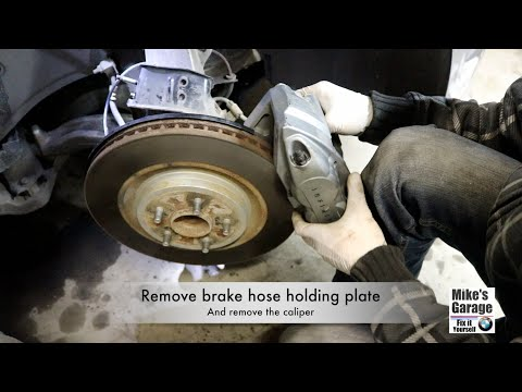 Infiniti, replace front brake pads and rotors, G37 2008-2010, DIY
