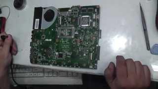 Ремонт Asus K53S K53SC mb K53SV ver 3.0 Самовключение пост 55