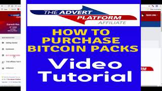 The Advert Platform : TAP:  How to buy Bitcoin packs