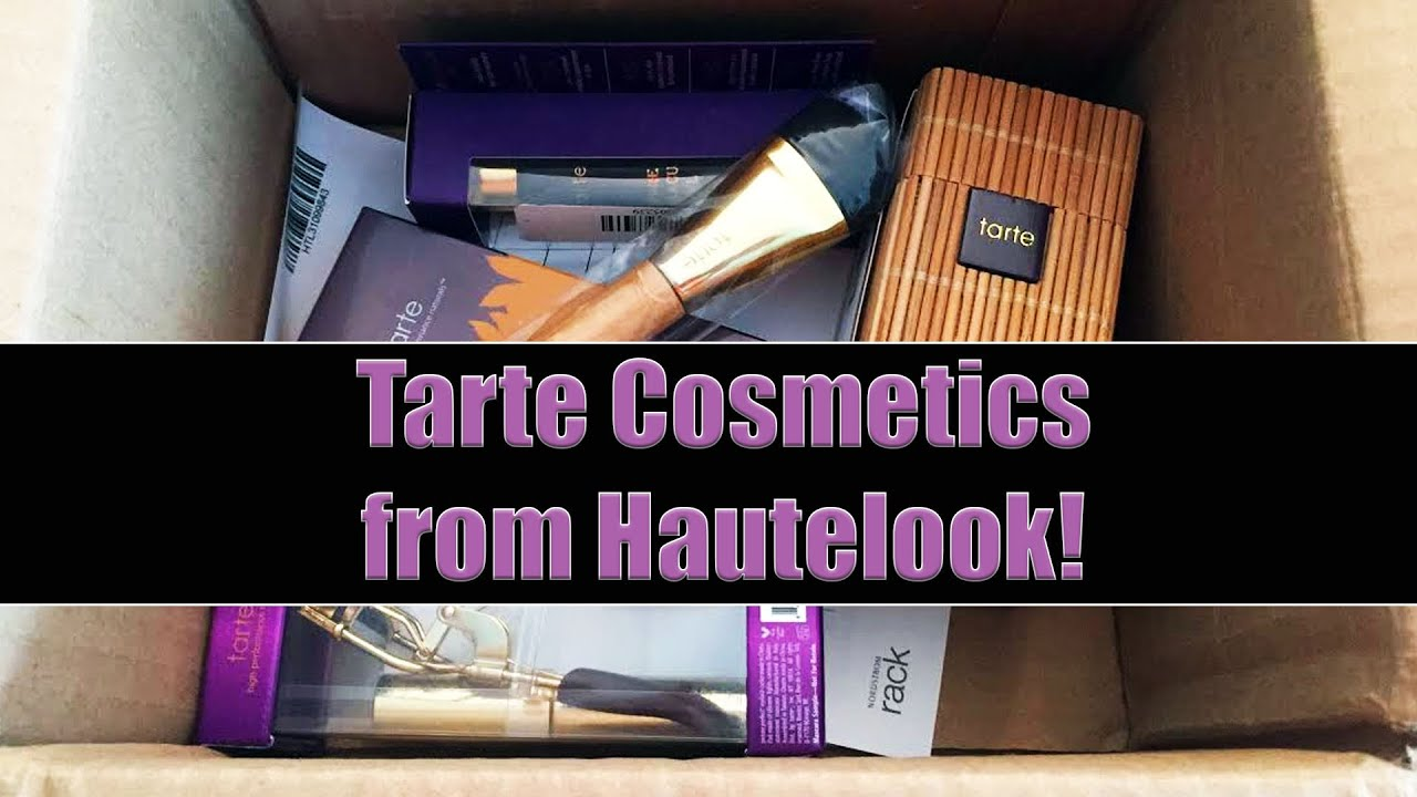 Hautelook Overview And Unboxing: Tarte Products For CHEAP!   YouTube
