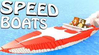 Minecraft | REALISTIC SPEED BOATS MOD Showcase!