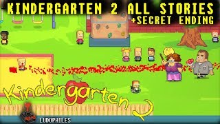 Kindergarten 2 All Stories + Secret Ending Full Playthrough / Longplay / Walkthrough (no commentary)
