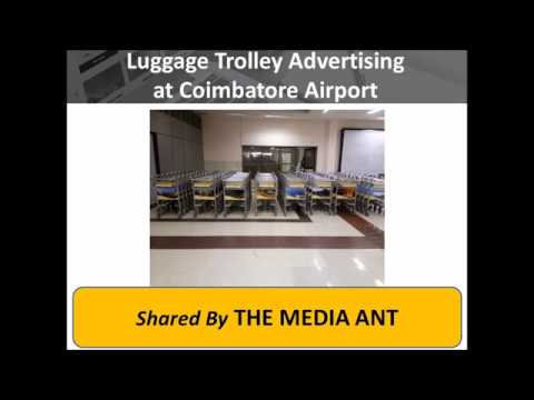 Luggage Trolley Advertising at Coimbatore Airport