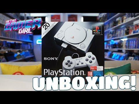 PlayStation Classic Unboxing Video Australia PS Mini   Retro Gamer Girl