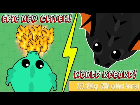 THE BEST NEW GLITCH EVER! NEW WORLD RECORD IN MOPE.IO! BLACK DRAGON FOR EVERYONE! (Mope.io)