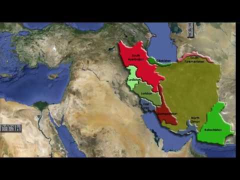 Этническая карта современного Ирана