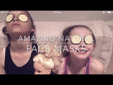 DYI Face Mask Kids Day Spa Holiday Fun