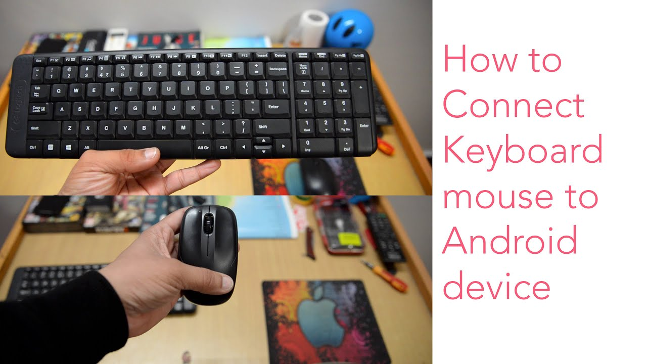 how to connect wireless keyboard mouse to android device youtube. Black Bedroom Furniture Sets. Home Design Ideas