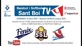 Spanish Softball League / CBS Sant Boi - CS Fènix València (2 de 2)