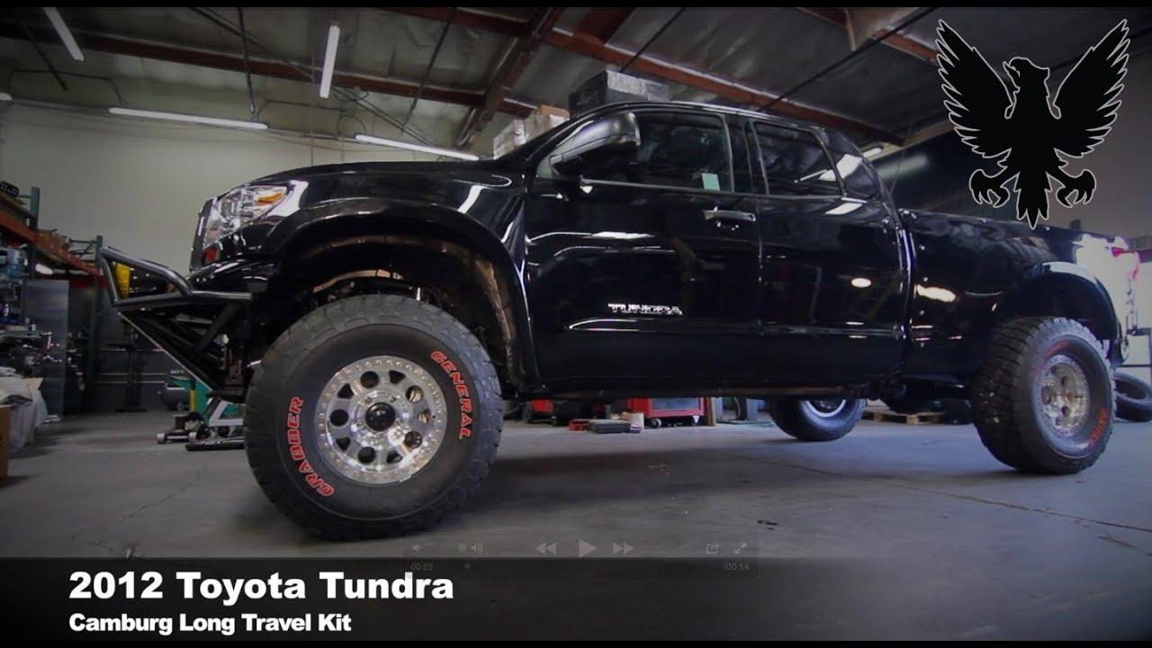 Camburg Supercharged Toyota Tundra Long Travel kit - YouTube