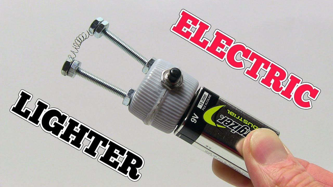 How to make a ELECTRIC LIGHTER at home using 9V Battery - YouTube