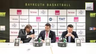 easycredit bbl saison 2016 2017 pokal qualifikation viertelfinale pressekonferenz
