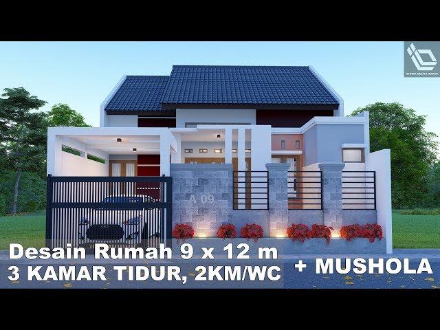 Rumah Minimalis 2 Lantai Ukuran 9x12  tonton desain rumah 9 x 12 m 3 kamar tidur 2 km wc