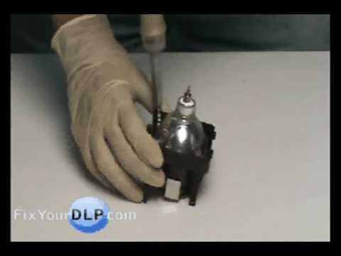 SONY XL-2500 Lamp Replacement Video/Guide - YouTube