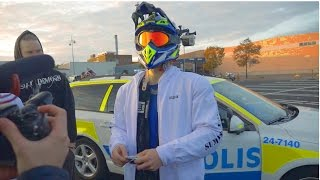Supermoto vs. The Swedish Police 2 | BUSTED for real (funny)| BLDH