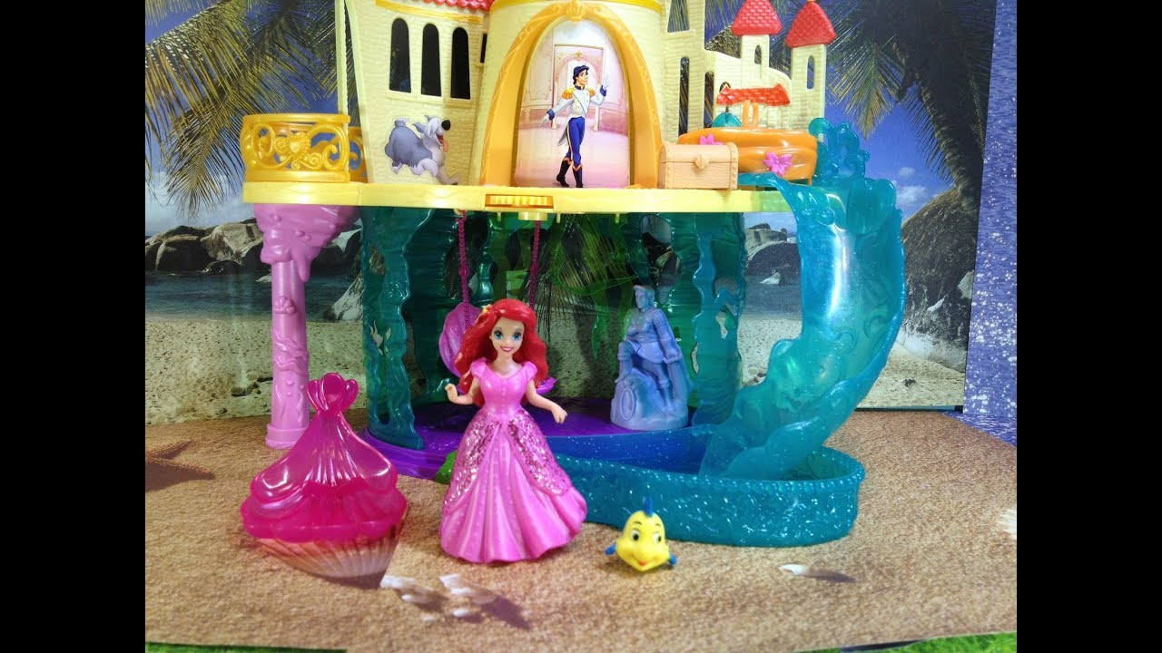 Unboxing the Ariel Little Mermaid Princess Castle Playset ...