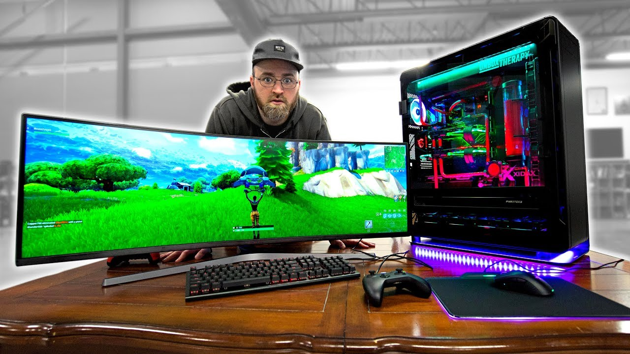 Fortnite On An Insane 20 000 Gaming Pc Youtube