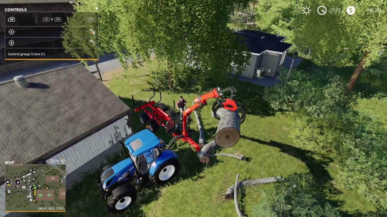 Farming Simulator 19 weird moments - Forestry 01 Log fliping