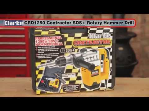 Clarke Contractor CRD1250 SDS+ Rotary Hammer Drill