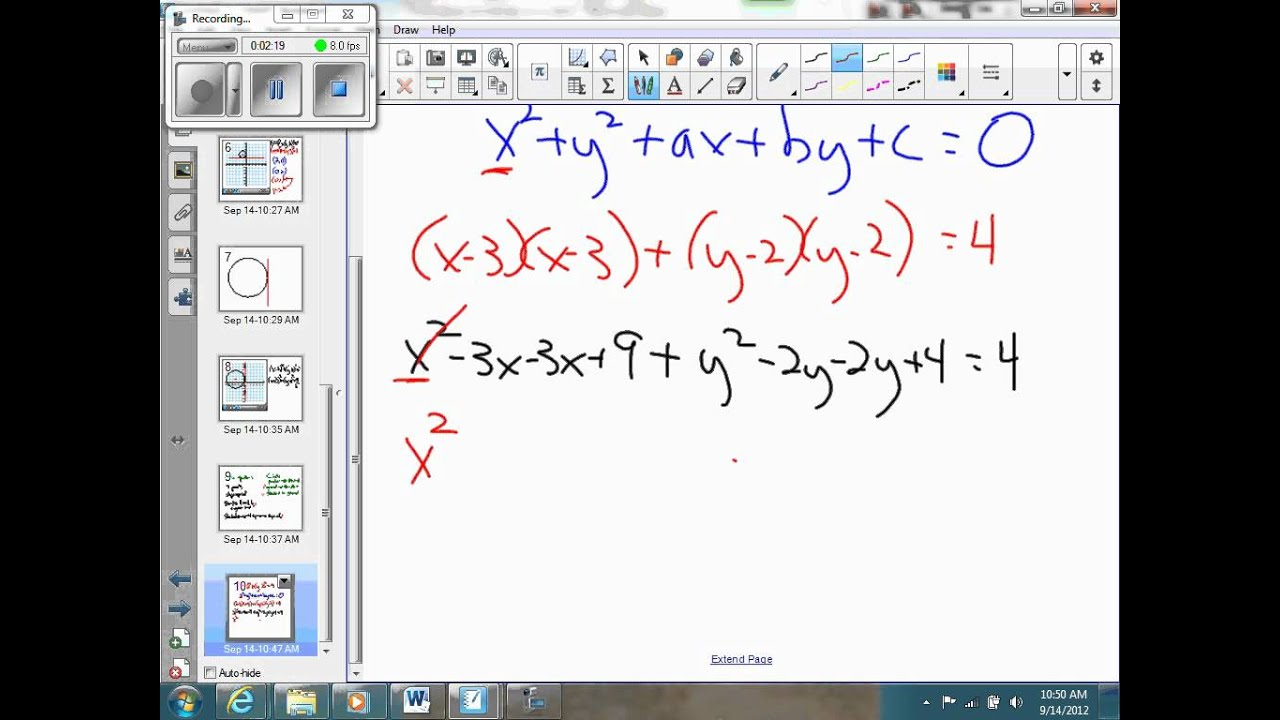 Standard form to general form equation of a circle - YouTube