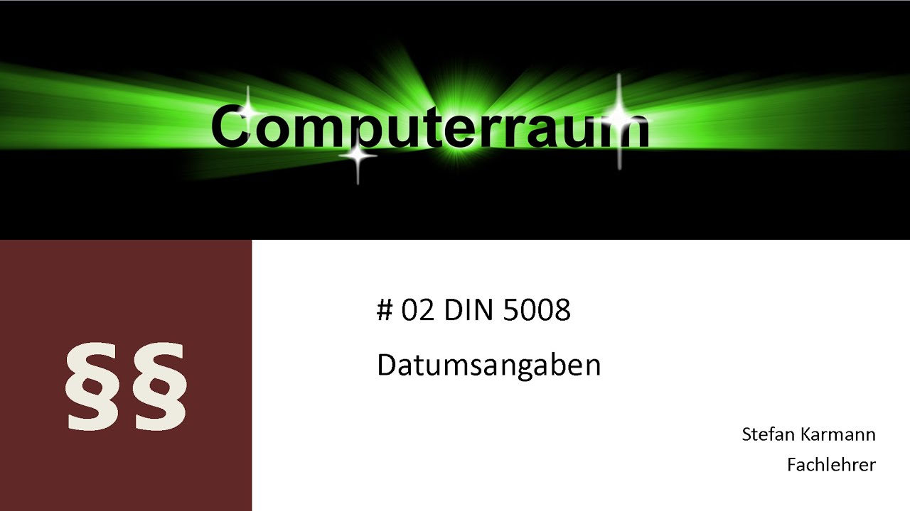 02 Din 5008 Datum Youtube