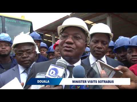 MINISTER VISITS A CAR  ASSEMBLING COMPANY  IN DOUALA
