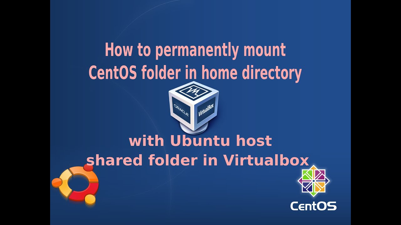 How to permanently mount folder in CentOS home directory