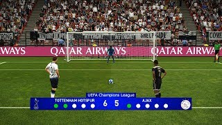 Tottenham Hotspur Vs Ajax | UEFA Champions League Penalty Shootout | PES 2019