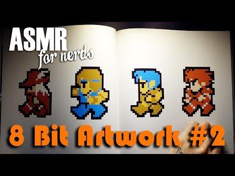 Retro Video Game Nintendo Art Book #2 - ASMR Reading - Super Mario Bros, Megaman, Duck Hunt