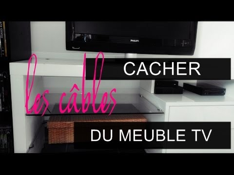 Diy cacher les c bles du meuble tv youtube - Comment cacher une television ...
