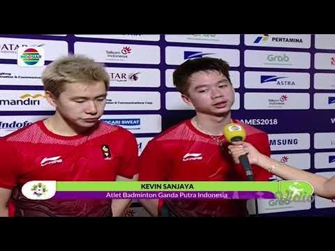 Kevin Sanjaya - Marcus Gideon Berhasil Maju ke Babak Perempat Final!   Asian Games 2018