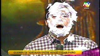 COMBATE Renzo tira tortazo a Gian Piero 08/04/14