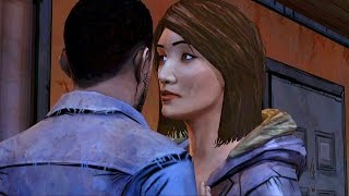Carley Kisses Lee at Travelier Motel (The Walking Dead | Telltale Games)