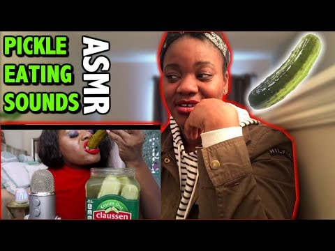 Pickle ASMR Eating Sounds/BIG Crunch/Intense (REACTION)