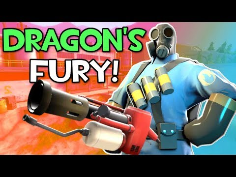 PYRO com a FÚRIA do DRAGÃO no Team Fortress 2!!
