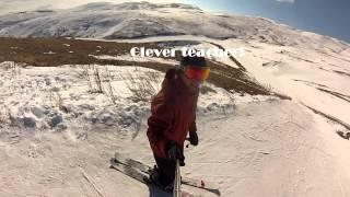 Монтаж самостоятельно отснятого материала. Как научиться кататься на горных лыжах.