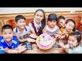 Kids Go To School   Birthday Of Chuns Children Cooperation Make a Birthday Cake in Bakery Shop