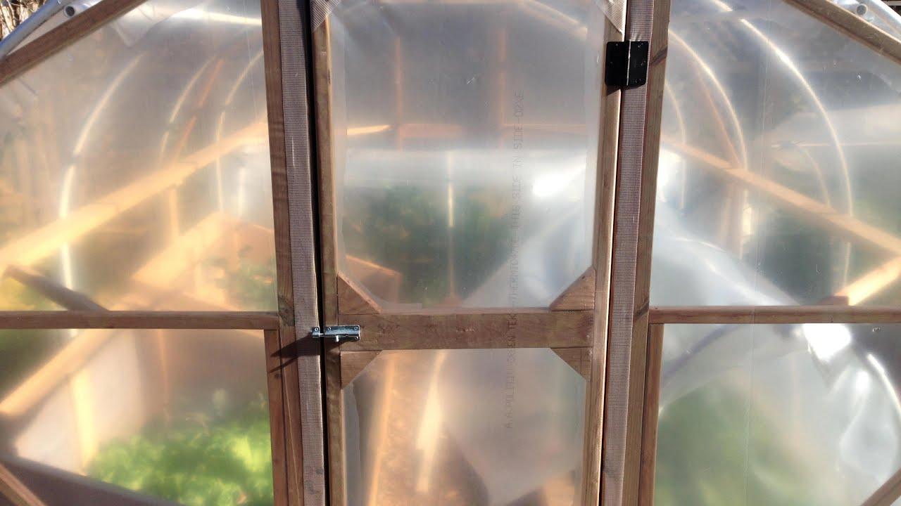 How I Built Our DIY Hoop House (Greenhouse), pt. 2: Door ...